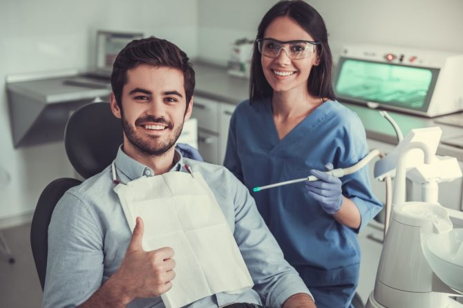 bigstock-At-The-Dentist-184948555-670x446 Full & Partial Dentures dentist Hartland